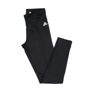 adidas Black Climalite Logo Leggings